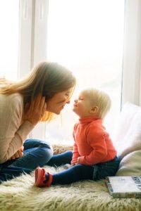mère positive et bienveillante