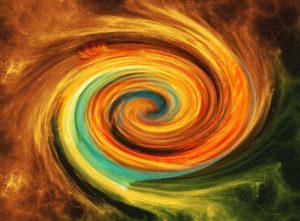 Le tourbillon de l'énergie de l'univers
